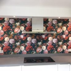 Fleur je keuken op met behang!